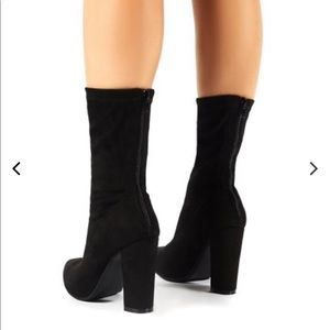 Shoes - Sock fit suede booties
